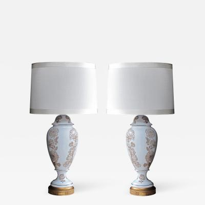Frederick Cooper A Elegant Pair of Blanc de Chine Lamps by Frederick Cooper