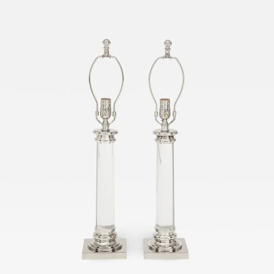 Frederick Cooper Glass Column Lamps