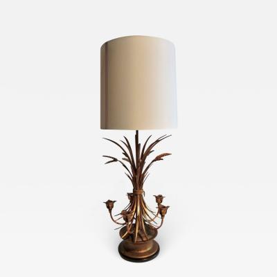 Frederick Cooper Italianate Gilt Sheaf of Wheat Candelabra Table Lamp Frederick Cooper