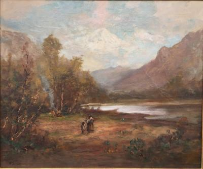 Frederick Ferdinand Schafer Lake in the Mountains