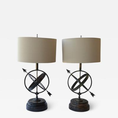 Frederick G Cooper Pair of Astrology Table Lamps