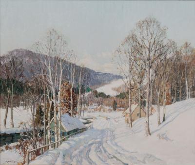 Frederick John Mulhaupt New Hampshire After the Storm by Frederick Mulhaupt