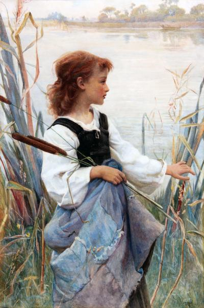 Frederick Morgan Girl Holding Reeds