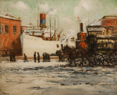 Frederick R Wagner The Shipyard Winter