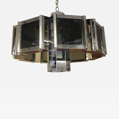Frederick Raymond Frederick Raymond Chrome Chandelier from the 1970s