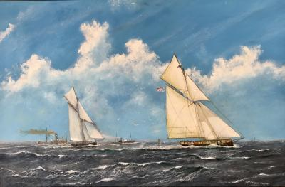 Frederick Tordoff American Cup Race 1885