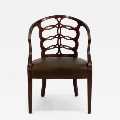 Frederick Victoria Carved Open Back Chair
