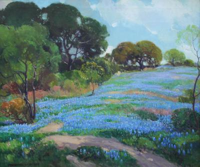 Frederick W Becker Texas Bluebonnets