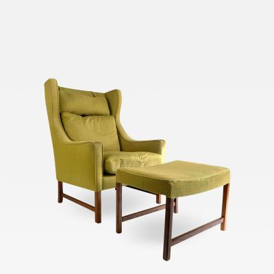 Frederik Kayser Style Lounge Chair and Ottoman
