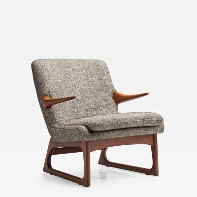 Fredrik Kayser Easy Chair by Fredrik A Kayser for Vatne Norway 1960s