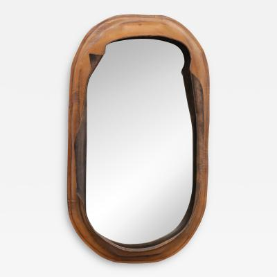 Free Form Leather Wall Mirror