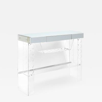 Free Standing Illuminating Bar in Lucite and Chrome 1970s