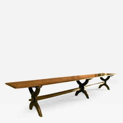French 17th Century 16 Foot Long Oak Trestle Table