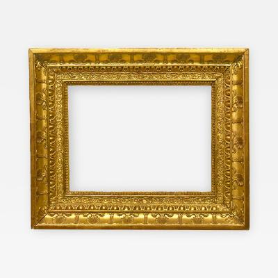 French 1810 Gold Leaf Empire Picture Frame 11x15