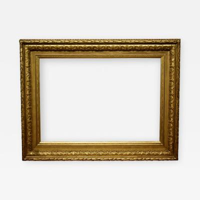 French 1870 Reverse Cove Gilded Picture Frame 32x46