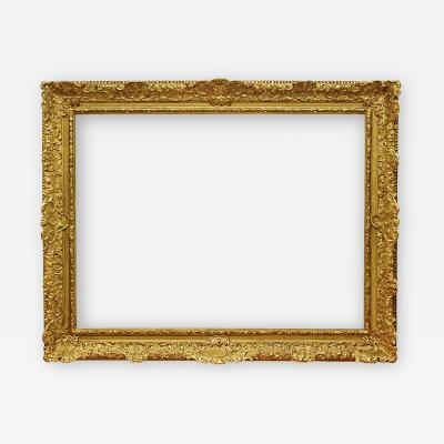 French 18th Century 8 Shell Gold Leaf Regence Picture Frame 34x46