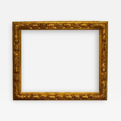 French 18th Century Carved Gilded Baroque Picture Frame 22x27