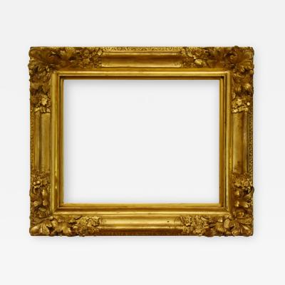 French 18th Century Louis XIV Carved Gold Leaf Picture Frame 19x24