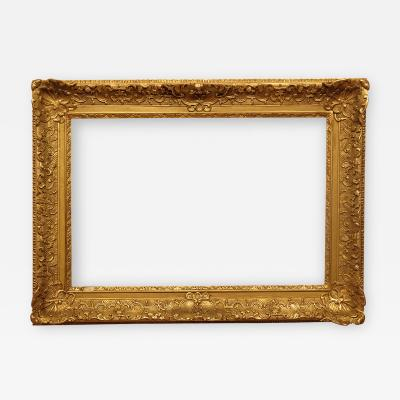 French 18th Century Louis XV Carved and Gilded Picture Frame 23x35