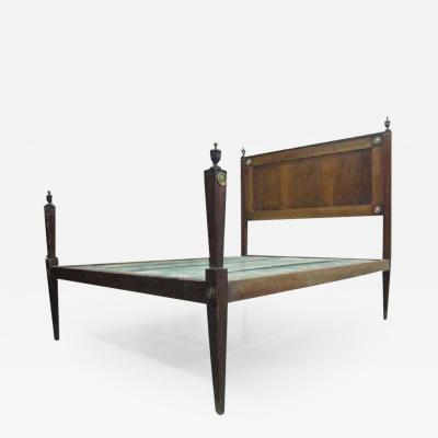 French 18th Century Louis XVI Neoclassical Walnut and Cherry Full Size Bed