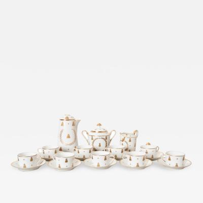 French 18th Century S vres Porcelain Hot Chocolate Set