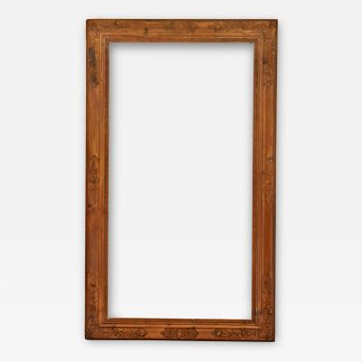 French 18th Century Stripped Pine Carved Regence Picture Frame