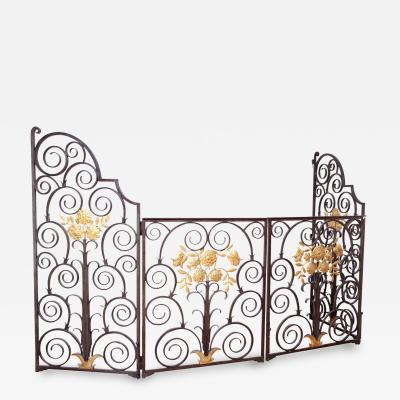 French 1940 s Wrought Iron Screen Gate