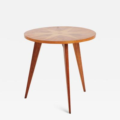French 1940s Oak Side Table