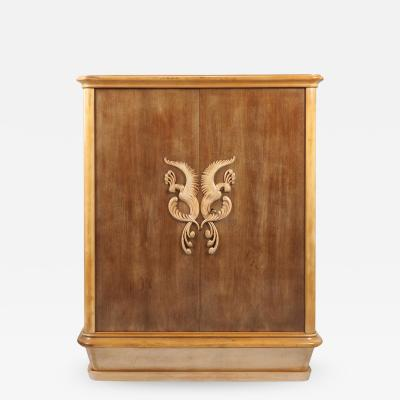 French 1940s Sycamore Cabinet