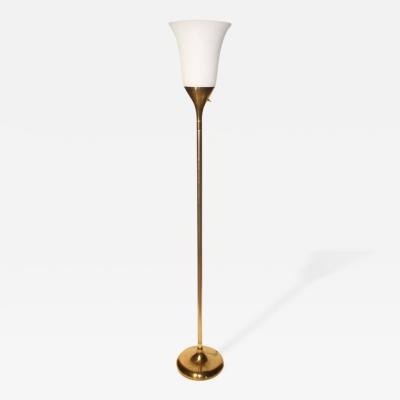 French 1940s Torchiere Floor Lamp