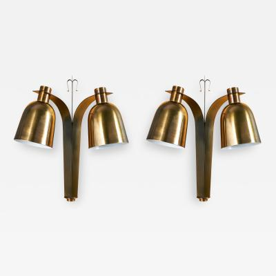 French 1950s Pair of Bell Shaped Sconces
