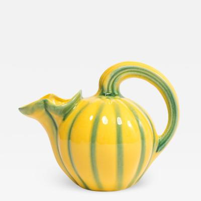 French 1950s ceramic figural fruit pitcher