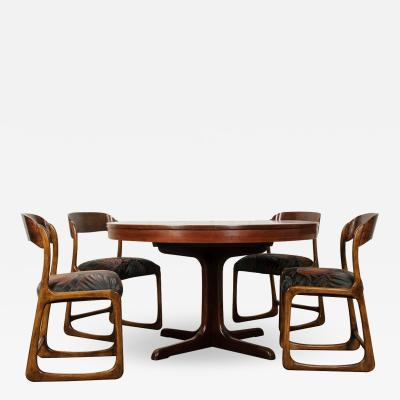 French 1960 s Scandinavian Modern Rosewood Dining Suite