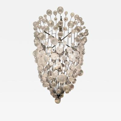 French 1990s Custom Large Bubble Chandelier