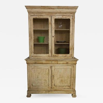 French 19th C Distressed Bookcase