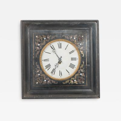 French 19th Century Boulle Inlaid Wall Clock