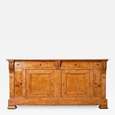 French 19th Century Burled Elmwood Biedermeier Buffet