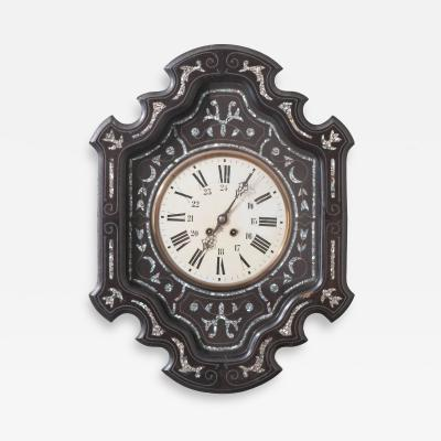 French 19th Century Ebony Napoleon III Wall Clock