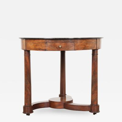 French 19th Century Empire Mahogany Center Table