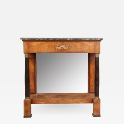 French 19th Century Empire Mahogany Console Table