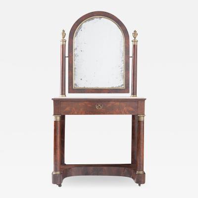 French 19th Century Empire Mahogany Dressing Table