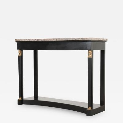 French 19th Century Empire Style Ebonized Console