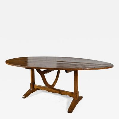 French 19th Century Exceptionally Large Oval Tilt Table