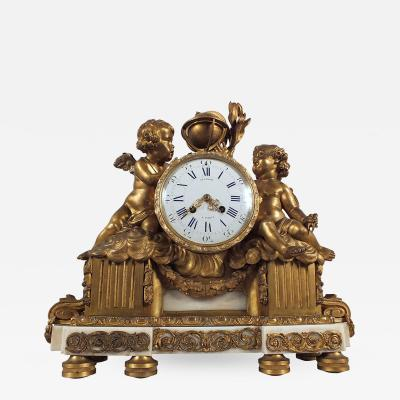 French 19th Century Gild Bronze Mantle Clock