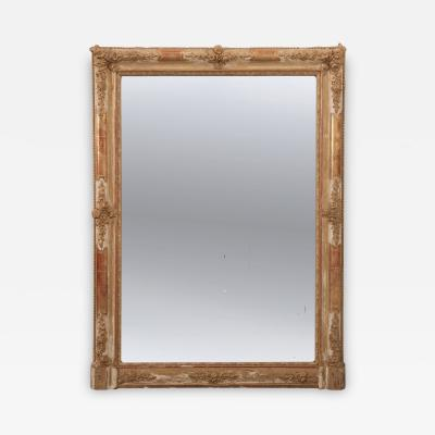 French 19th Century Giltwood Mantle Mirror