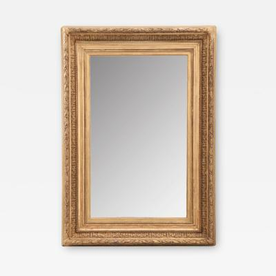 French 19th Century Gold Gilt Frame w Mirror