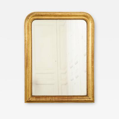French 19th Century Gold Giltwood Louis Philippe Style Mirror