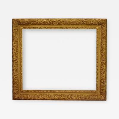 French 19th Century Gold Leaf Gesso Picture Frame 25x30 5