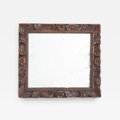 French 19th Century Hand Carved Wood Mirror