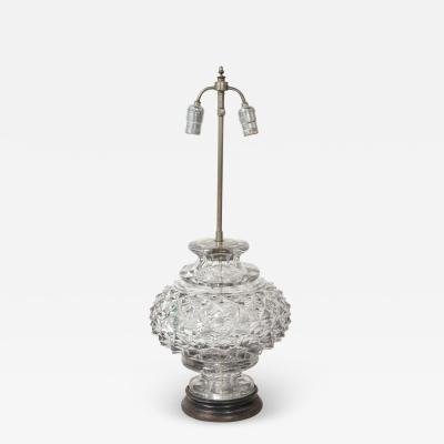 French 19th Century Lead Crystal Lamp